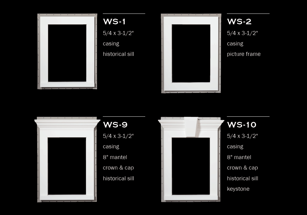 Window Surrounds - 1 to 4